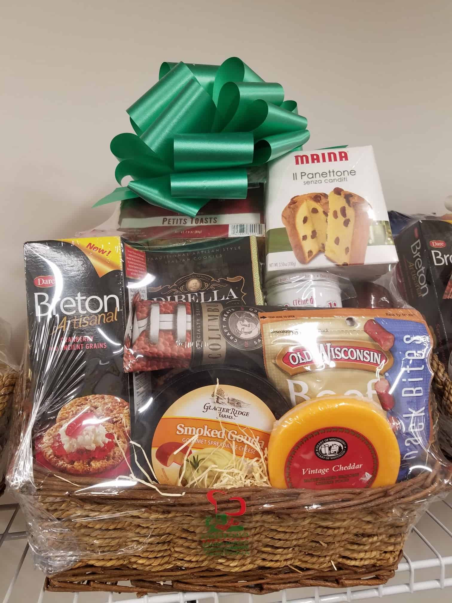 Pick up your holiday baskets or have a custom gift basket made.